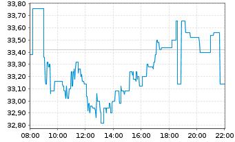 Chart ECKERT & ZIEGLER AG - Intraday
