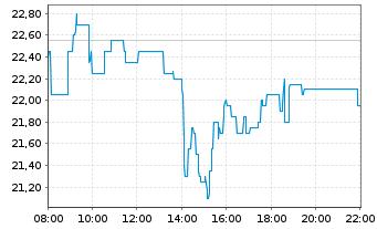 Chart SÜSS MicroTec SE - Intraday