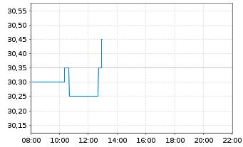 Chart Deutsche Beteiligungs AG - Intraday