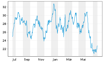 Chart ArcelorMittal S.A. - 1 Jahr