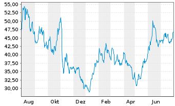 Chart Appian Corp. - 1 Jahr