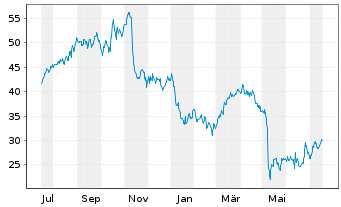 Chart National Vision Holdings Inc. - 1 Jahr