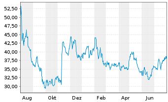 Chart Yeti Holdings Inc. - 1 Jahr