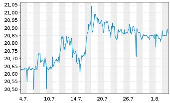 Chart Telenet Group Holding N.V. - 1 Monat