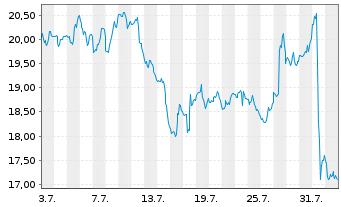 Chart Norwegian Cruise Line Holdings - 1 Monat