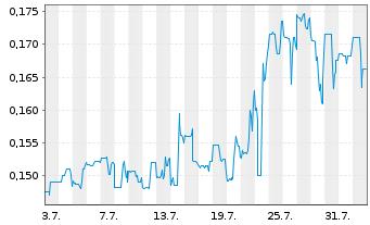 Chart Argentina Lithium&Energy Corp. - 1 Monat