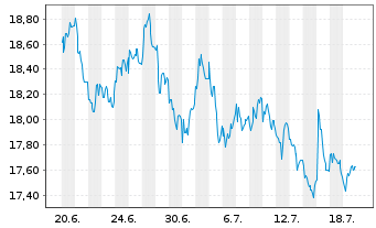 Chart 1&1 Drillisch AG - 1 Monat