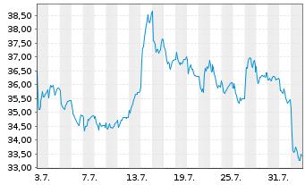 Chart ECKERT & ZIEGLER AG - 1 Monat