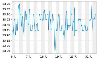 Chart SNP Schnei.Neureith.&Partn.SE - 1 Monat