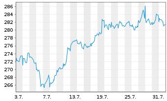 Chart Allianz RCM Nebenwerte Deu. - 1 Monat