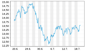 Chart SÜSS MicroTec SE - 1 Monat