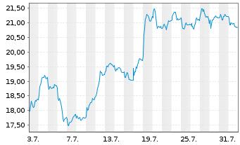 Chart Vonovia SE - 1 Monat