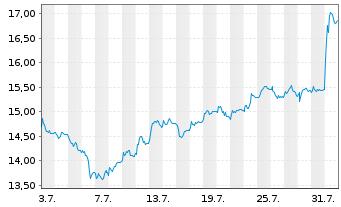 Chart TeamViewer AG - 1 Monat