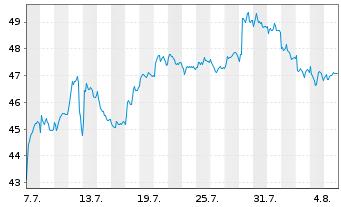Chart BASF SE - 1 Monat