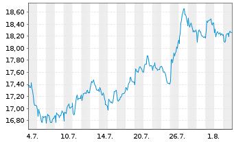 Chart Carrefour S.A. - 1 Monat