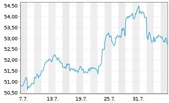 Chart SPDR MSCI Emerging Markets ETF - 1 Monat