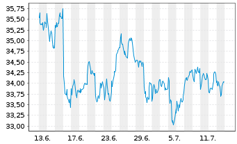 Chart Source Mkts-S.EU.STOXX50 U.ETF - 1 Monat