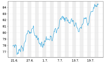 Chart SSGA SPDR ETF EU.II-M.Wo.Sm.C. - 1 Monat