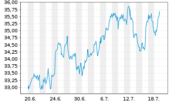 Chart SSGA S.ETF E.II-S.US Fin.S.Se. - 1 Monat