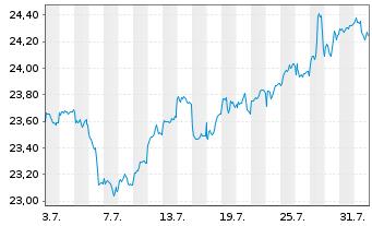 Chart F.Tem.Inv.Fds-Templ.Global Fd. Nam-Ant. N (acc.)oN - 1 Monat