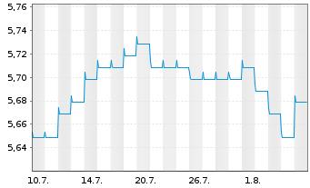 Chart Fr.Temp.Inv.Fds-T.Gl.Bd(EO) Fd N A (Ydis.) o.N. - 1 Monat