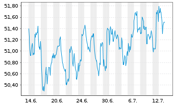 Chart Allianz TAARA Stiftungsfonds Inhaber-Anteile Ao.N. - 1 Monat