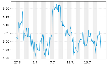 Chart JPMorgan Fds-Brazil Alpha Plus Act. N. Acc.(USD)oN - 1 Monat