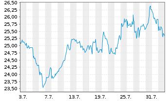 Chart ArcelorMittal S.A. - 1 Monat