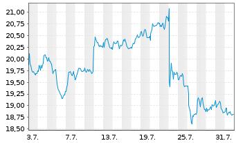 Chart Koninklijke Philips N.V. - 1 Monat