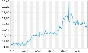 Chart Brunel International N.V. - 1 Monat