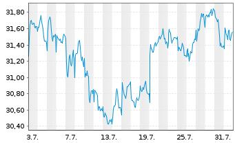 Chart Ahold Delhaize N.V., Konkinkl. - 1 Monat