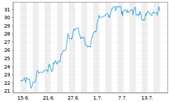 Chart ANI Pharmaceuticals Inc. - 1 Monat