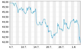 Chart Avnet Inc. - 1 Monat