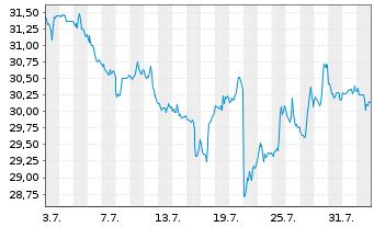 Chart CSX Corp. - 1 Monat
