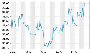 Chart Liberty Media Corp. Reg.Sh. C Braves Grp DL -,01 - 1 Monat
