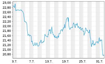 Chart ProShs Ultra 20+ Year Treasury - 1 Monat
