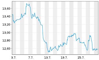 Chart ProShares Sht MSCI Emerg.Mkts - 1 Monat