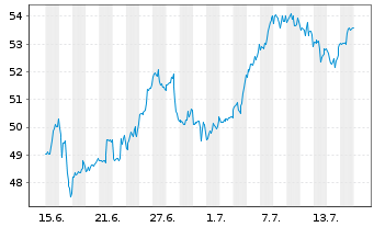 Chart SPDR Ptf S&P 500 Growth ETF - 1 Monat