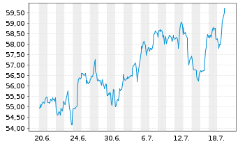 Chart SPDR S&P Regional Banking ETF - 1 Monat