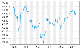 Chart SPDR-S&P Metals & Mining ETF - 1 Monat