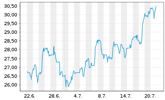 Chart Terex Corp. - 1 Monat