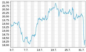 Chart Anglogold Ashanti Ltd. - 1 Monat