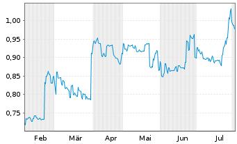 Chart A2B Australia Ltd. - 6 Monate
