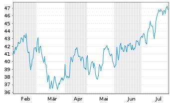 Chart Tourmaline Oil Corp. - 6 Monate