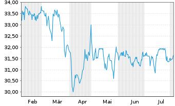Chart Biotest AG VZ - 6 Monate
