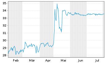 Chart SNP Schnei.Neureith.&Partn.SE - 6 Monate