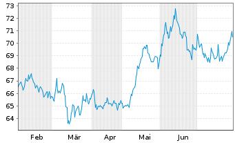 Chart Allianz RCM Fonds Japan Inhaber-Anteile A (EUR) - 6 Monate