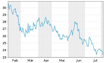 Chart Allgeier SE - 6 Monate