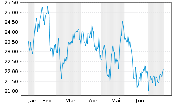 Chart Liberty Global Inc. Registered Shares C - 6 Monate