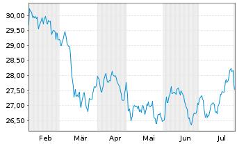 Chart SPDR S&P Glob.Div.Aristocr.ETF - 6 Monate